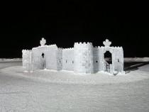 Ice Castle Under Construction In Stillwater's Holiday Celebration