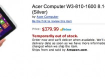 Amazon Post Of Acer Iconia W3 Running On Windows 8.1 Blue