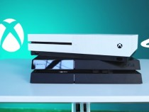 The Xbox One S and the PS4 at Best Buy