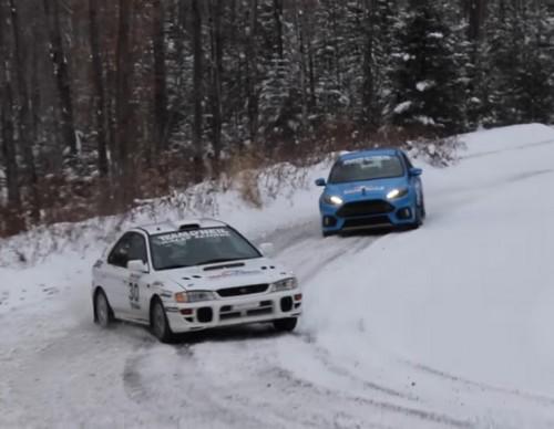 Old School Subaru STI Takes On New Ford Focus RS