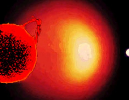 Artist's conception of the evolution of our Sun
