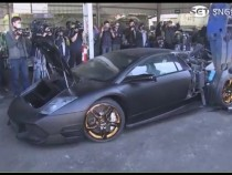 Lamborghini Murcielago Just Got Destroyed In Front Of Its Owner