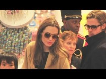 Angelina Jolie and Brad Pitt Go Christmas Shopping With the Kids! 2011