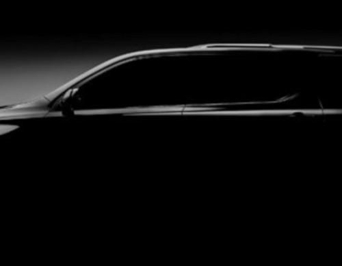 2018 Chevrolet Traverse Teases And Confirms Detroit Auto Show Debut
