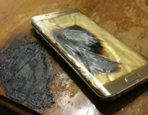 Galaxy S6 edge catches fire on nightstand