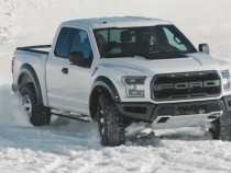 2017 Ford F-150 Raptor Takes A Ride In The Snow