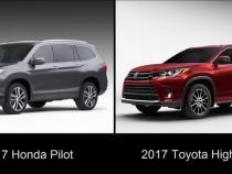 SUV Clash: 2017 Honda Pilot vs 2017 Toyota Highlander