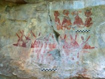 Old cave paintings near Mexico