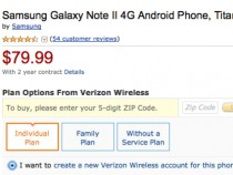 Verizon Samsung Galaxy Note 2 deal on Amazon