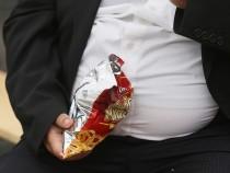 Heavyweight Man Eating Funk Food