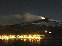 Copahue Volcano erupting