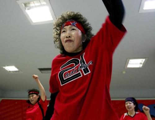 Elderly People Dance Hip-Hop In Beijing