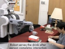 Robot serving beer