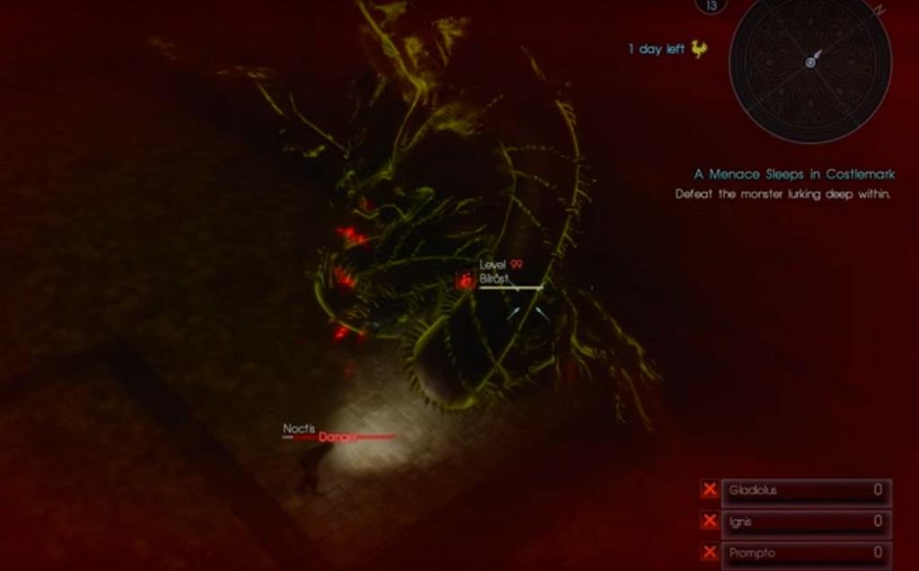 'Final Fantasy XV' Guide: Defeat Bilrost In 'A Menace Sleeps In Costlemark' Level 99 Quest