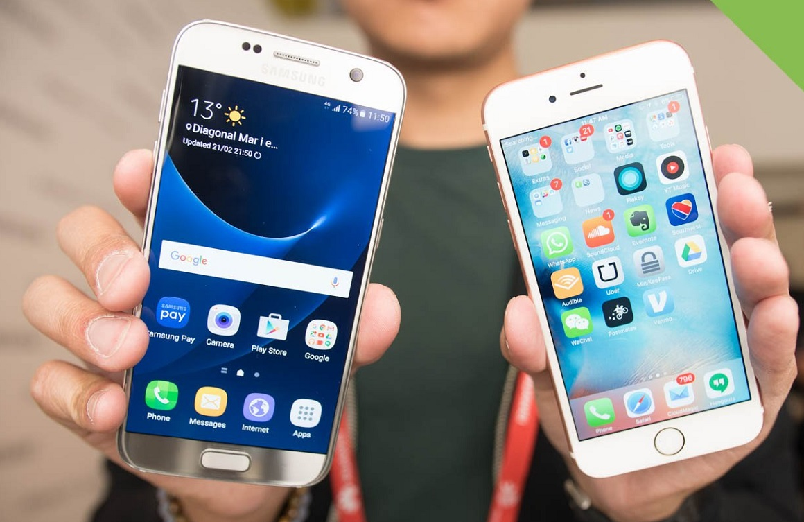 Samsung Galaxy S7 vs iPhone 6s hands on comparsion