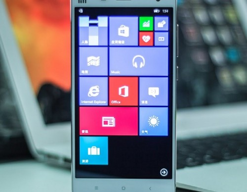 Windows 10 Mobile running on Android phone