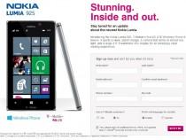 T-Mobile Nokia Lumia 925 Pre-Registration Page