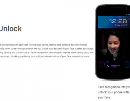 Google Android Face Unlock feature