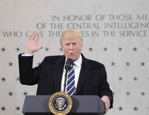 President Trump Speaks At CIA Headquarters
