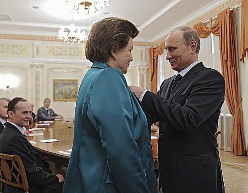 Valentina Tereshkova decorated by Vladimir Putin