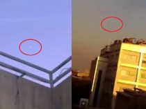 UFO in Tehran, Iran under Artillery Fire 1 16 2017