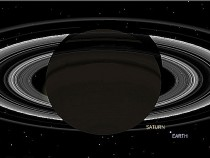 Earth from Saturn simulation