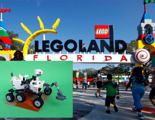 Mars Curiosity rover made of Lego bricks