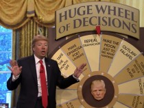Jimmy Fallon Revives His Donald Trump Impression Featuring Huge Wheel Of Decisions