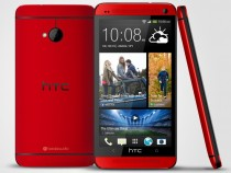 HTC One in Glamour Red color