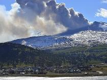Copahue volcano eruption