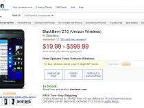 Verizon BlackBerry Z10 deal on Amazon