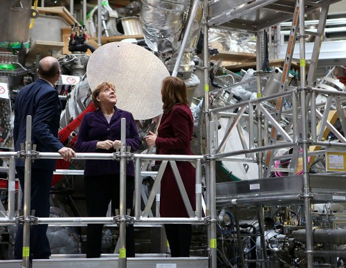 Merkel Visits Wendelstein 7-X Nuclear Fusion Reactor