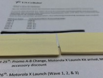 Leaked Internal Document Of US Cellular Showing The Launch Date Of Moto X