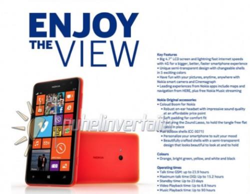 Nokia Lumia 625 Leak