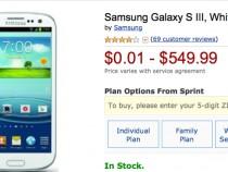Sprint Samsung Galaxy S3 Amazon Deal