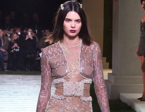 Kendall Jenner Wows In See-Through Lace At New York Fashion Week