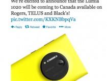 Nokia Confirms Lumia 1020 For Rogers, TELUS, & Black's