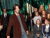 The Cast of 'The Matrix Reloaded' and P.O.D. Visit MTV's 'TRL' - May 5, 2003