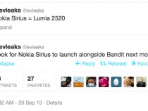 Nokia Sirius Windows RT Tablet To Be Called Lumia 2520