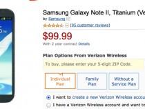 Verizon Samsung Galaxy Note 2 Amazon Deal