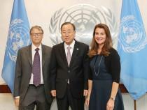 Bill Gates And Melinda Gates Visit The United Nations