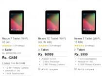 Nexus 7 Price Reduction On Flipkart