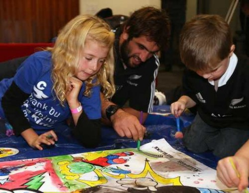 New Zealand All Blacks 'Cure Kids' Appearance in Auckland