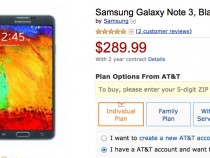 AT&T Samsung Galaxy Note 3 Amazon Deal