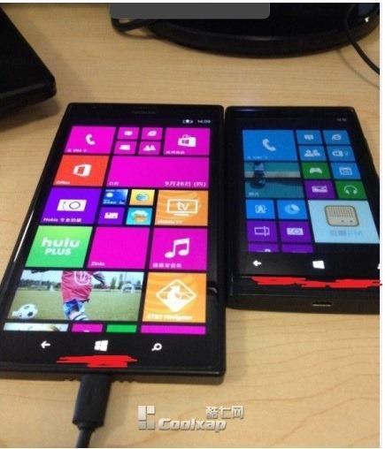 Lumia 1520 next to another Lumia (leak)