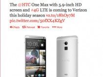 Verizon Announcing It Will Offer HTC One Max