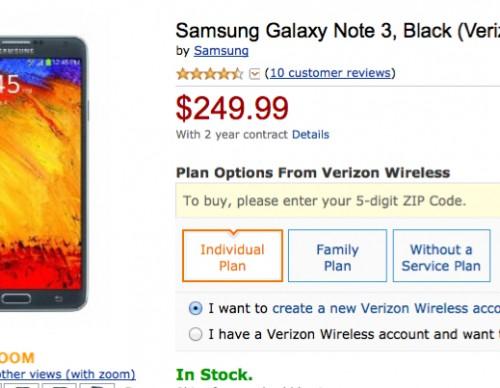 Verizon Samsung Galaxy Note 3 Deal