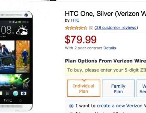 Verizon HTC One Amazon Deal