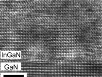 The Atomic Arrangement at a Relaxed InGaN/GaN Interface