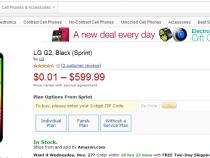 Sprint LG G2 Amazon deal